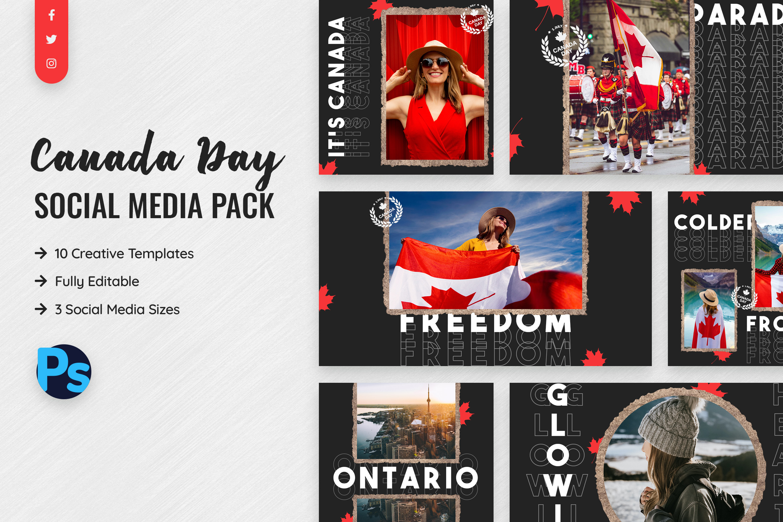 Canada Day Social Media Template