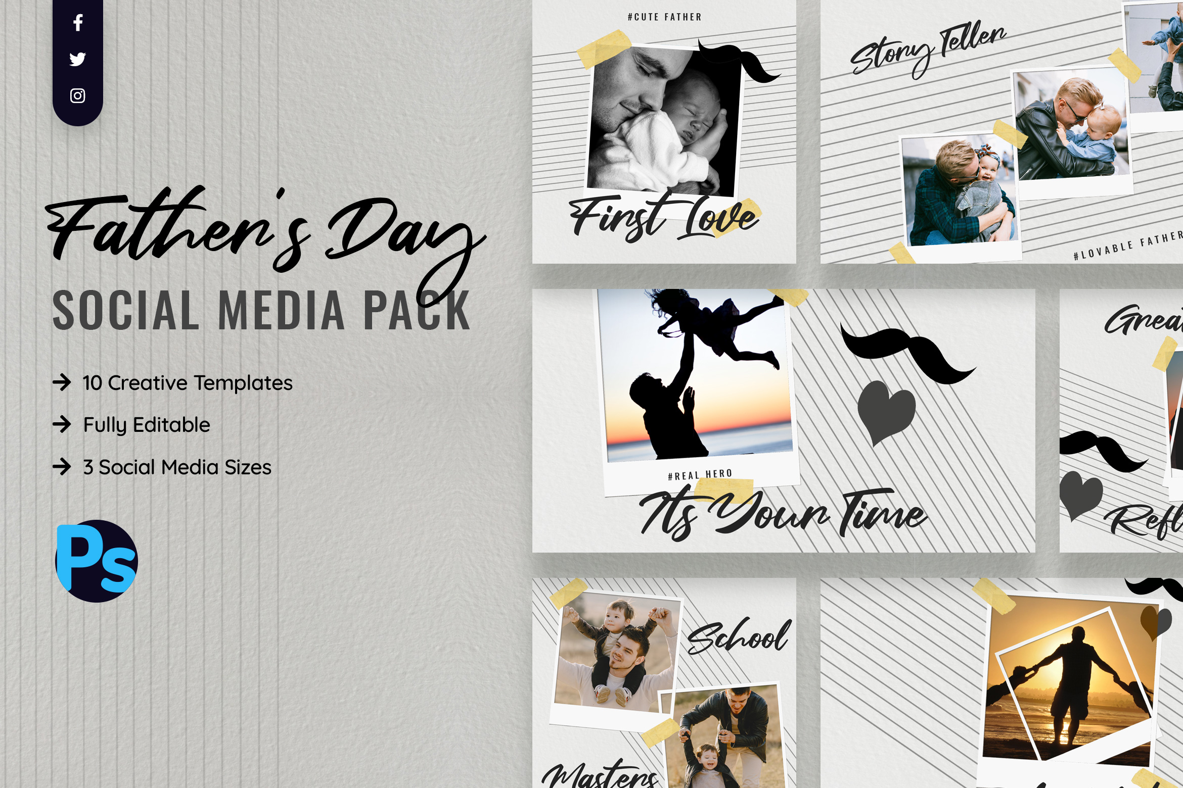 Father's Day Social Media Template
