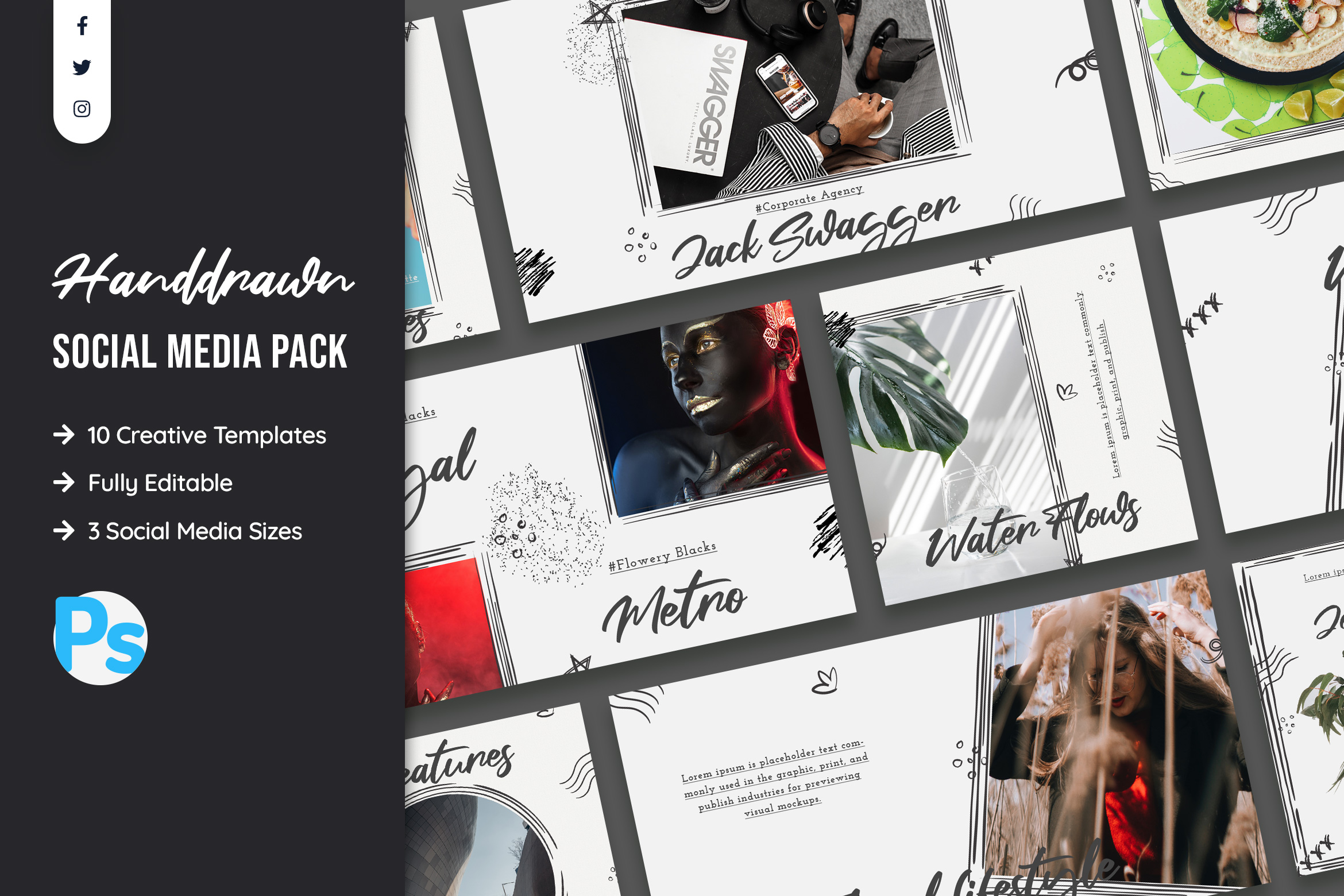 Hand Drawn Style Social Media Template