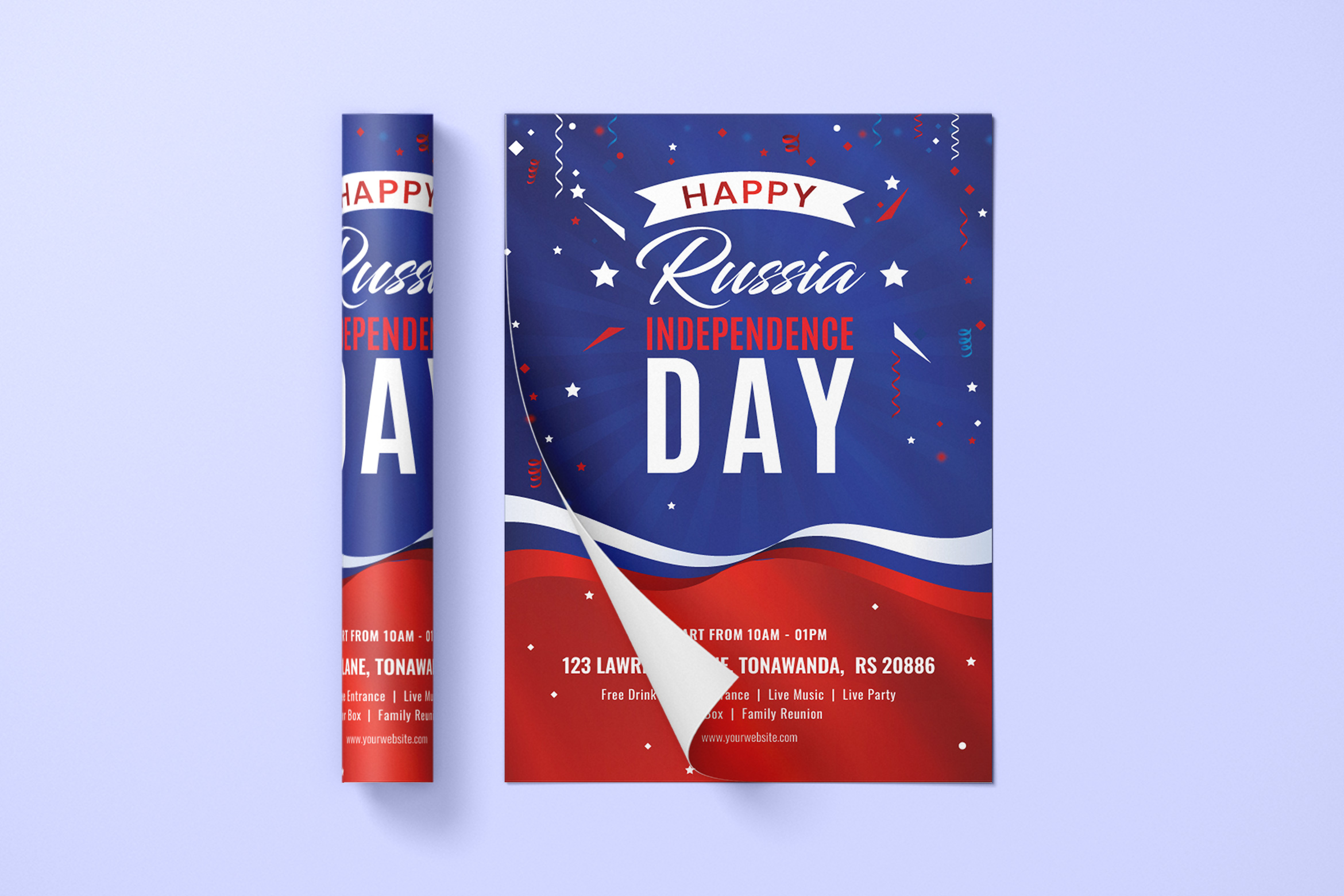 Russia Day Flyer Template