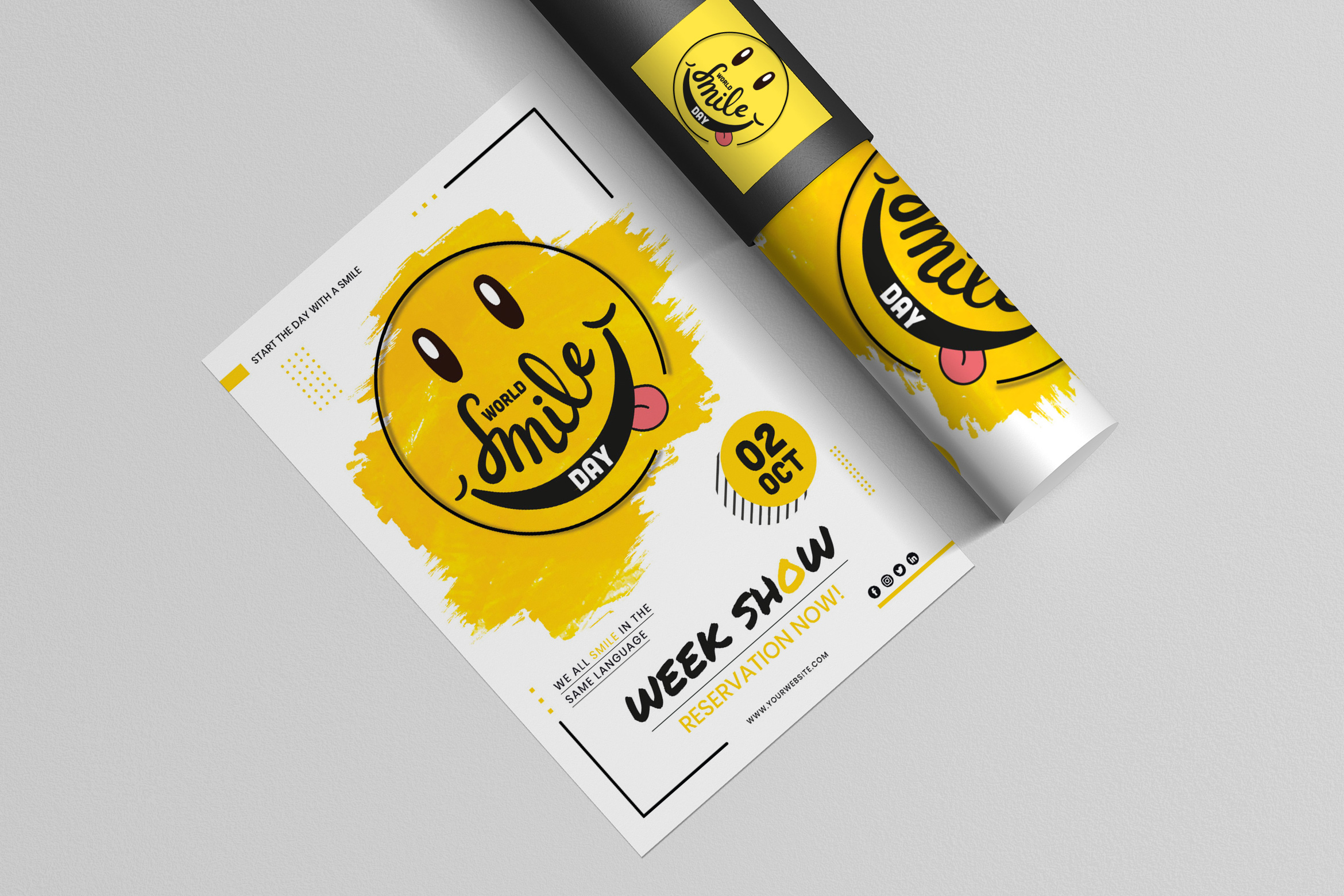 World Smile Day Poster Template