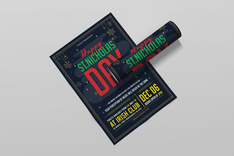 Saint Nicholas Day Flyer Template