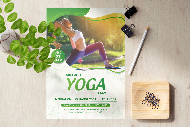 International day of Yoga Template