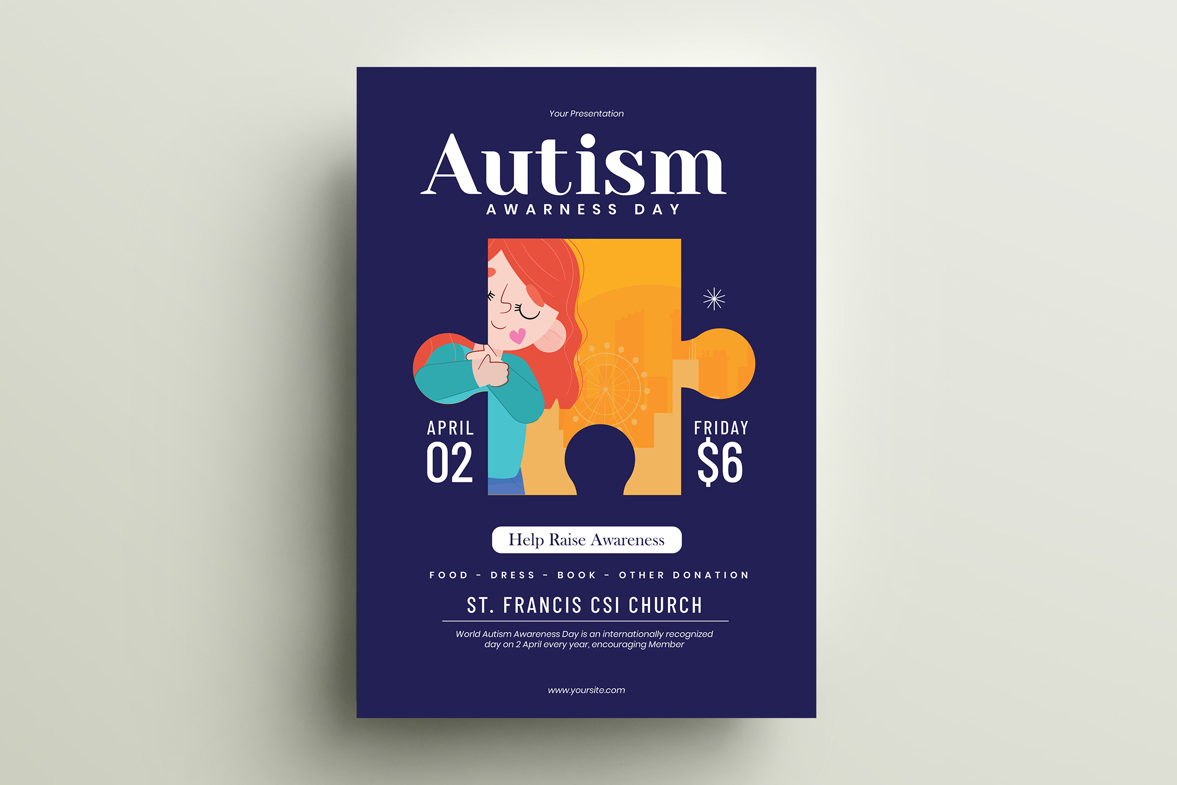 Autism Day Flyer Template