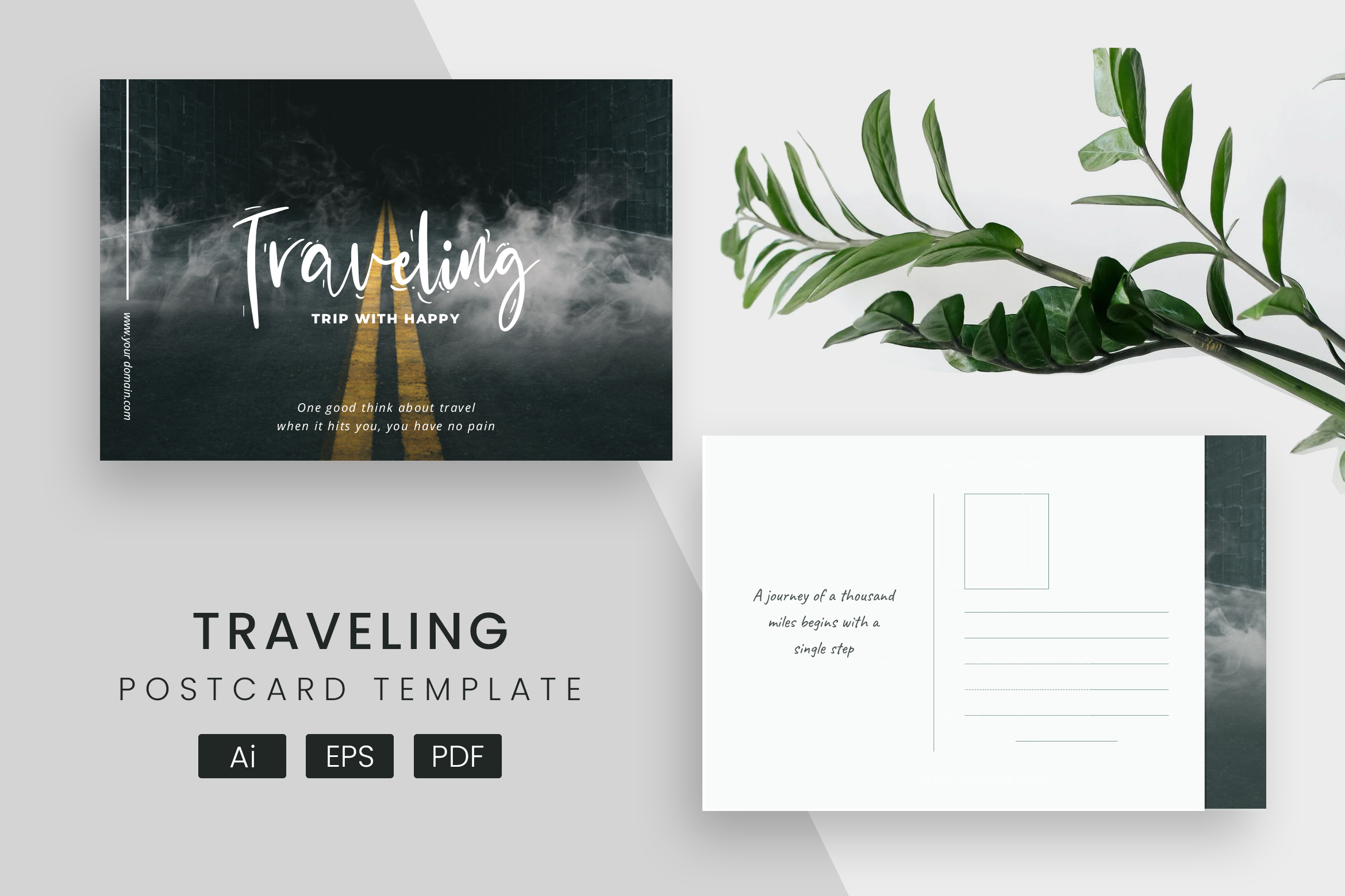 Travel Post Card Template