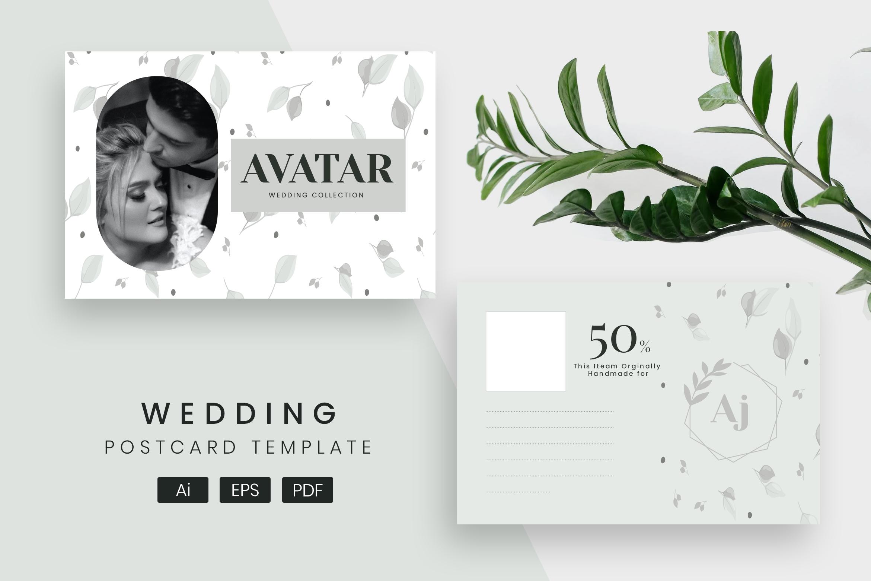 Wedding Post Card Template