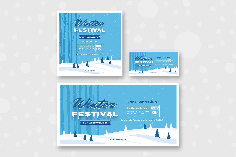 Winter Social Media Pack Template