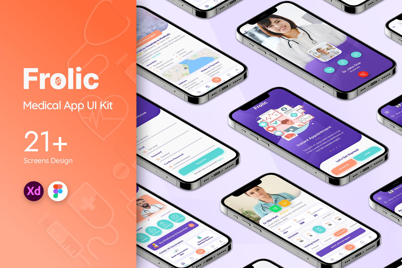 Frolic Medical App UI Kit
