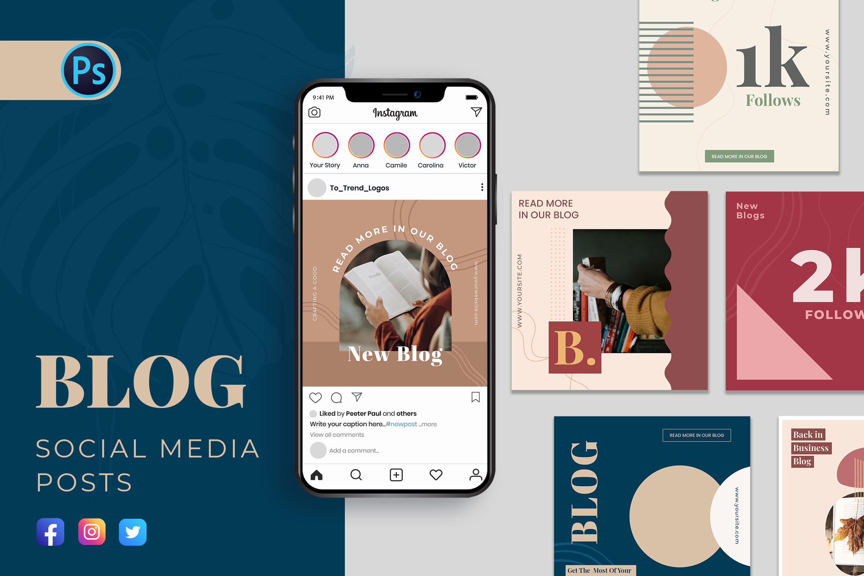 Blogging Social Media Template