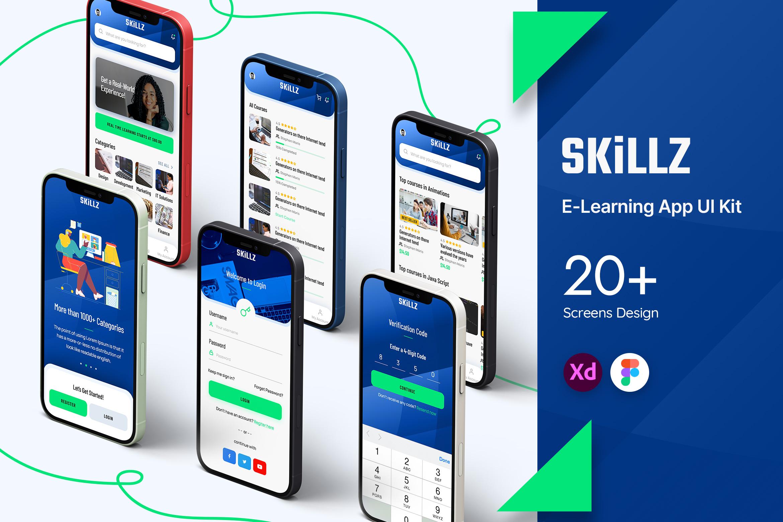 Skillz E-Learning App UI Kit